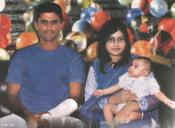 Abdul Razzaq with his wife