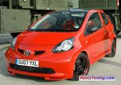 Modified Vitz 2 door In Red