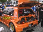 Modified Sound sysytem daihatsu charade 88